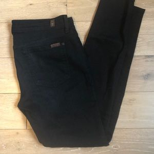 NWOT 7 for all mankind black Gwenevere Sz30